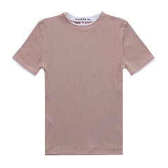 Little Parni Pink Shadow Rib Girls SS T-Shirt