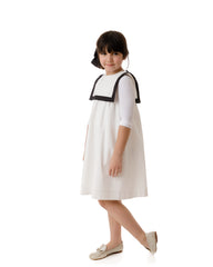 Velvette Label White Smocked Dress