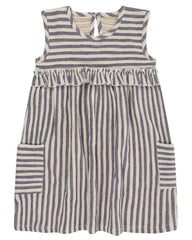 Turtledove London Crinkle Stripe Reversible Dress