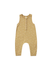 Quincy Mae Gold Sleeveless Jumpsuit