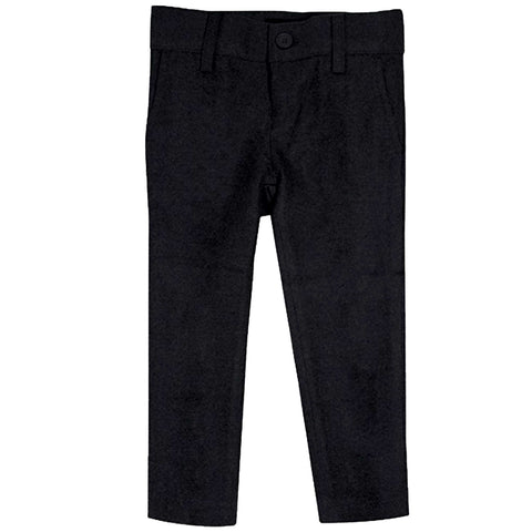 Black Wool Look Slim Fit Pants