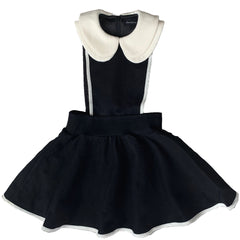 Emme + Emma Black With Cream Trim Peter Pan Dress