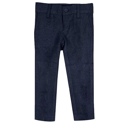 Indigo Wool Look Skinny Fit Pants