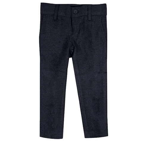 Navy Wool Look Slim Fit Pants