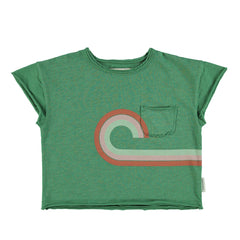 Piupiuchick Green W/ Multi Color Prints T-Shirt