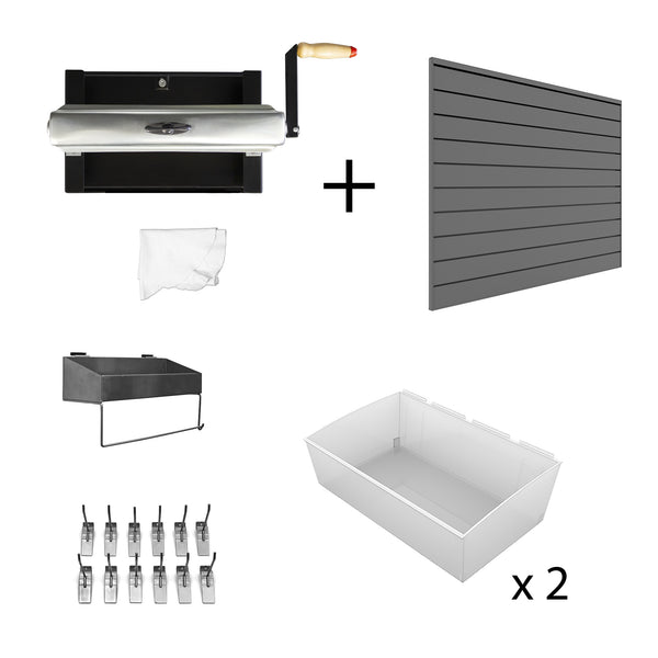 Car Washing Kit with 4 x 4 ft. Slatwall