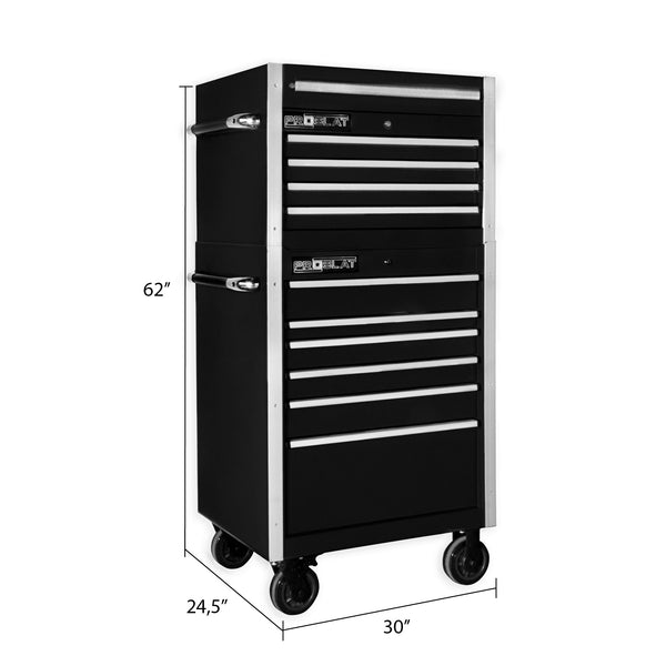 "MCS 30"" Rolling tool chest combo  - Black"