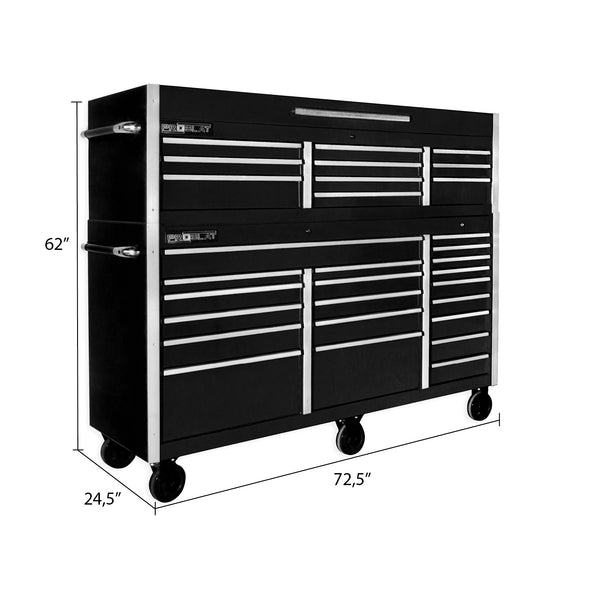 MCS 72 in. Rolling tool chest combo - Black