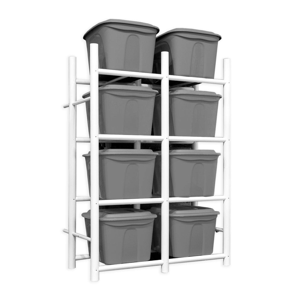 Bin Warehouse Rack – 8 Totes