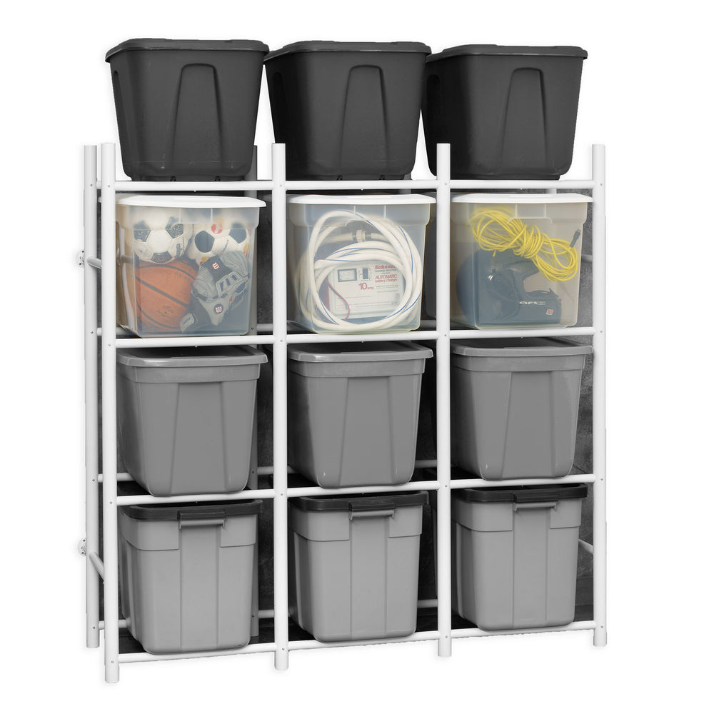 Bin Warehouse Rack - 12 Totes Compact