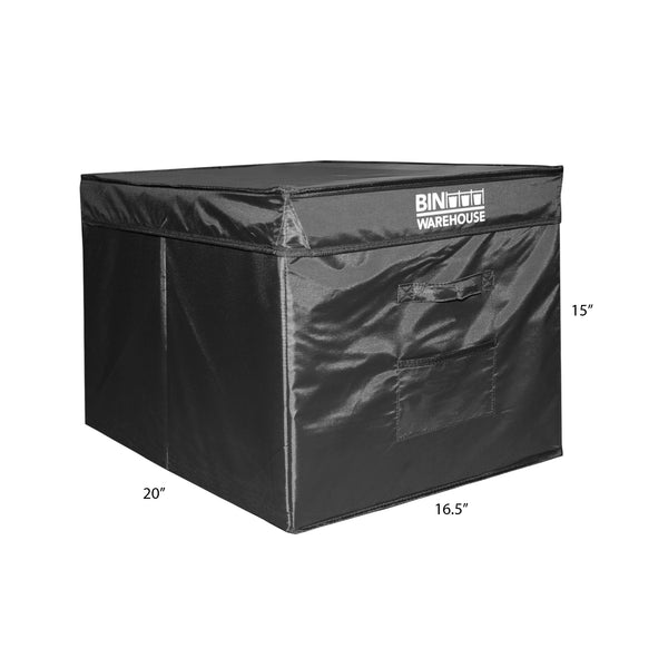 Bin Warehouse – Fold-A-Tote Black – 22 Gallon 4 Pack