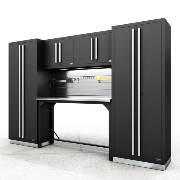 Fusion PRO Cabinets – 6 Piece Work Bench Set