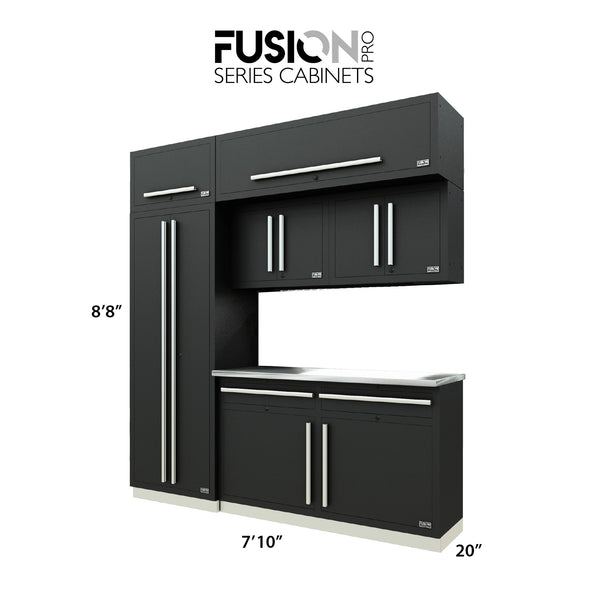 Fusion PRO Cabinets – 7 Piece CUBE Set – With Overheads – The works