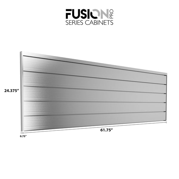 Fusion Pro Series Cabinets — 62 in. Aluminum Back Splash 2 PK