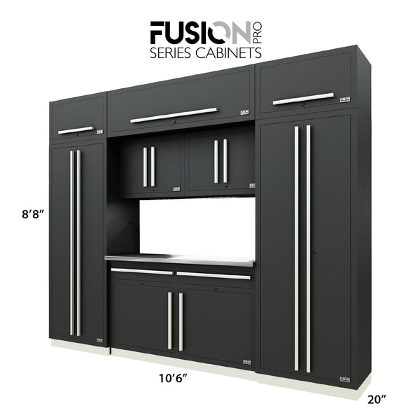 Fusion PRO Cabinets – 9 Piece CUBE Set – With Overheads