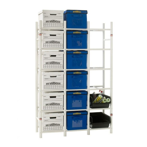 Bin Warehouse Rack - 18 Filebox