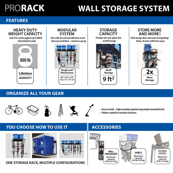 ProRack 12 ft. with Slatwall Bracket