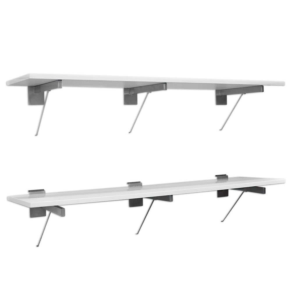 48 in. White Shelf – 2 pack