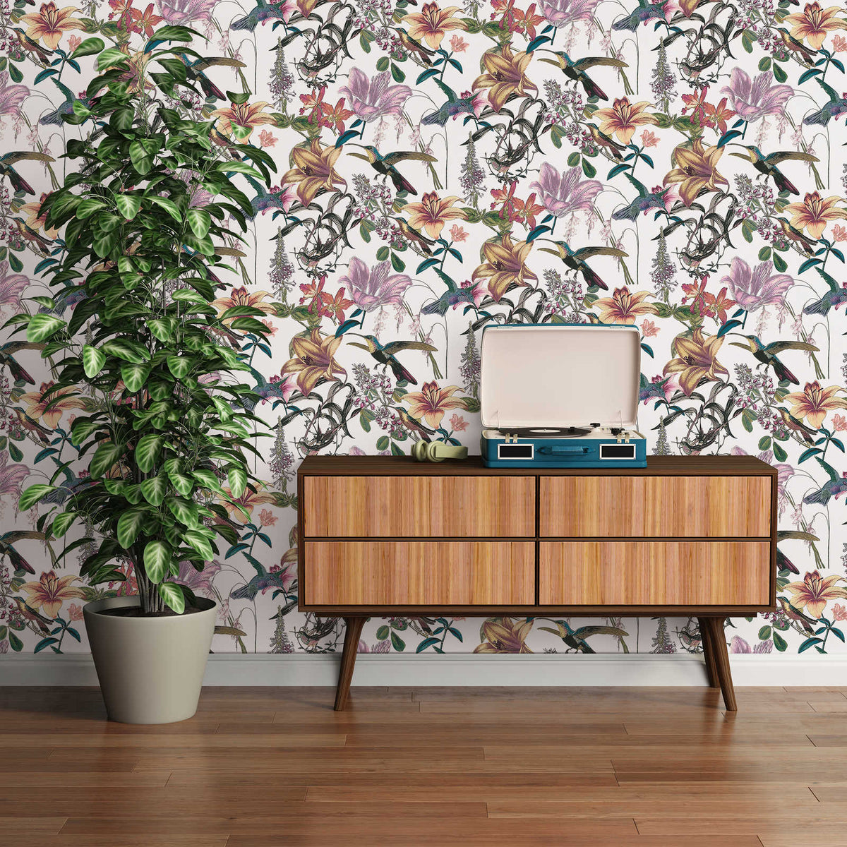 Floral & Tree Wallpaper