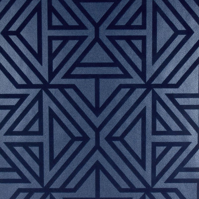 Triangle Geometric Flock Wallpaper in Blue - Your 4 Walls