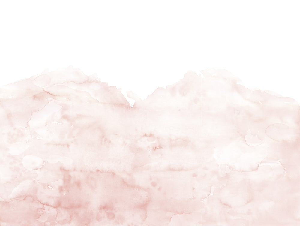 Watercolour Effect Wallpaper Mural in Pink