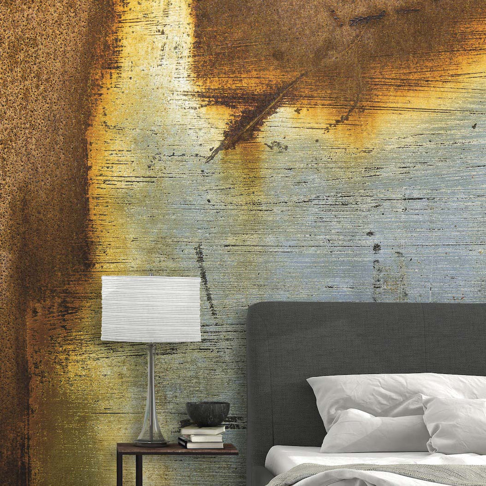 Metal Surface Concrete Wall Effect Wallpaper Mural In