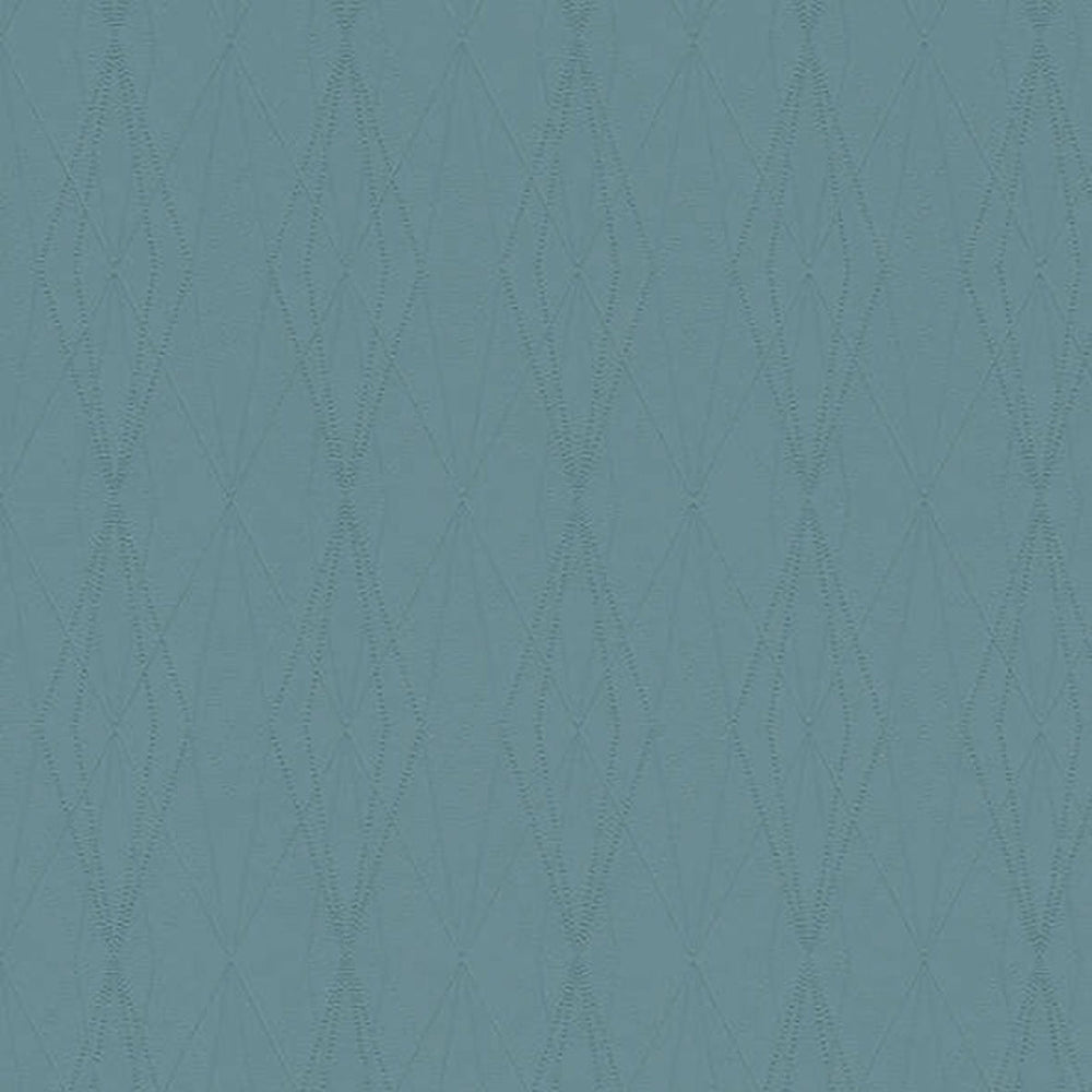 Architectural Diamond Geometric Wallpaper in Blue - Your 4 Walls