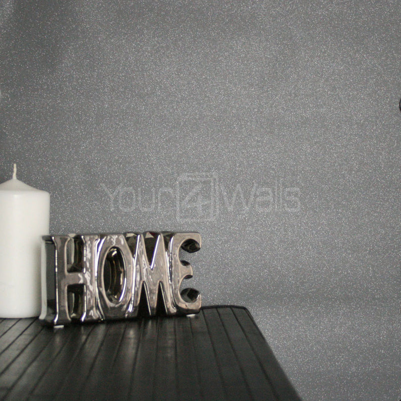 Dazzle Glitter Sparkle Effect Wallpaper | Grey - Your 4 Walls