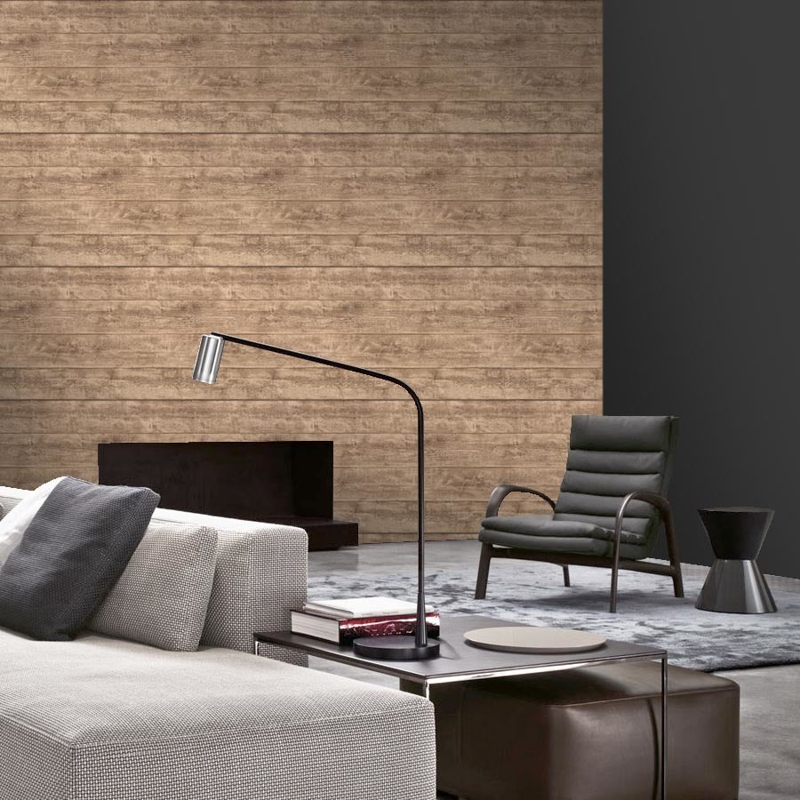 Amazingly realistic wood effect Wallpaper in Oak Beige