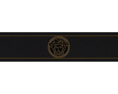 Versace Greek Key Border| Black & Gold - Your 4 Walls