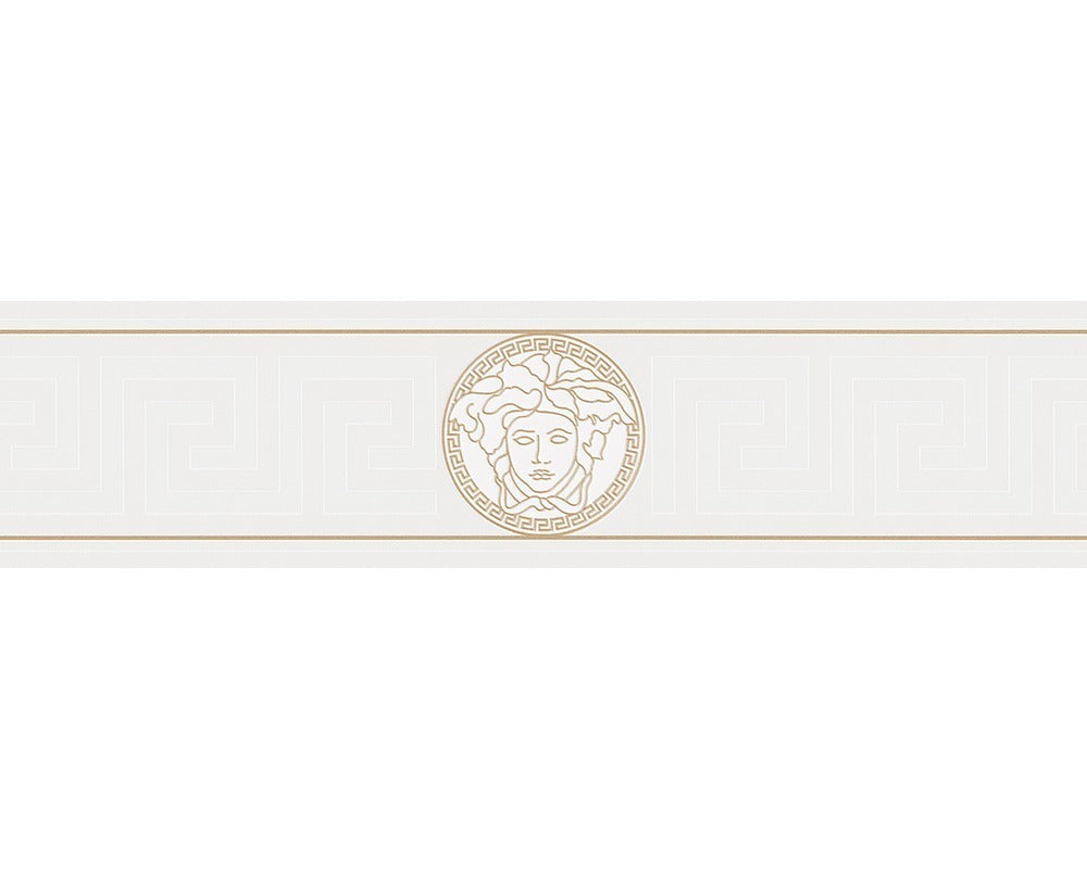 Versace Greek Key Border | Off White - Your 4 Walls