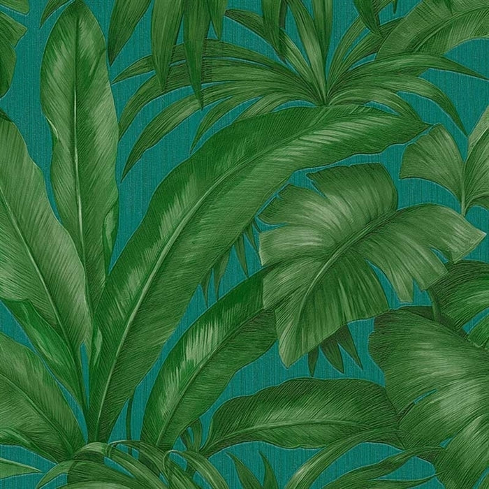 Versace 'Palm Leaf' Designer Leaf/Tree Wallpaper in Green & TurqoiuseThese Versace wallpapers offer pure luxury for your walls. A versatile product that could easily be used in any room - but where ever it is, it will shout luxury.