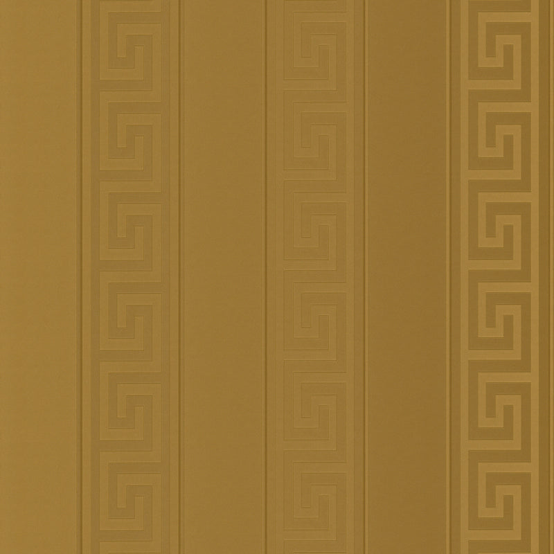 Versace Greek Key Stripe Wallpaper | Gold - Your 4 Walls