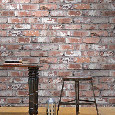 Holcombe | Red Brick Effect Wallpaper - Your 4 Walls