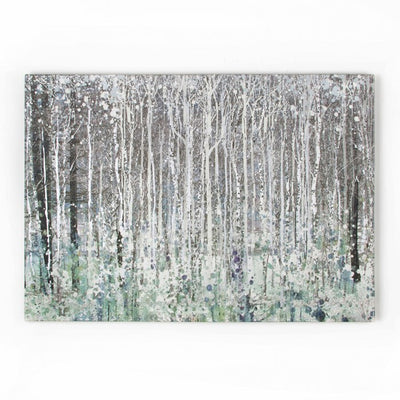 Watercolour Woods | Printed Canvas Natural & Silver metallics - Your 4 Walls