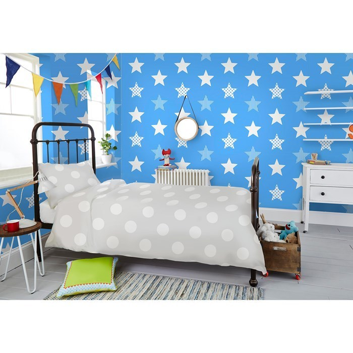Absolutely stunning Blue & White Star wallpaper