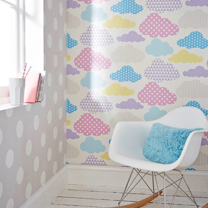 Absolutely stunning Pastel Shades & White wallpaper