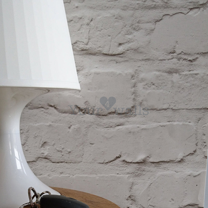 Loft Brickhouse Brick Effect Wallpaper | White/Grey LAST ROLL - Your 4 Walls