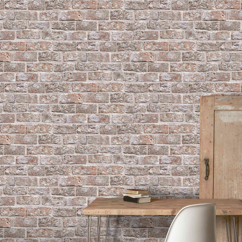 Dulas Brown Brick Effect Wallpaper - Your 4 Walls