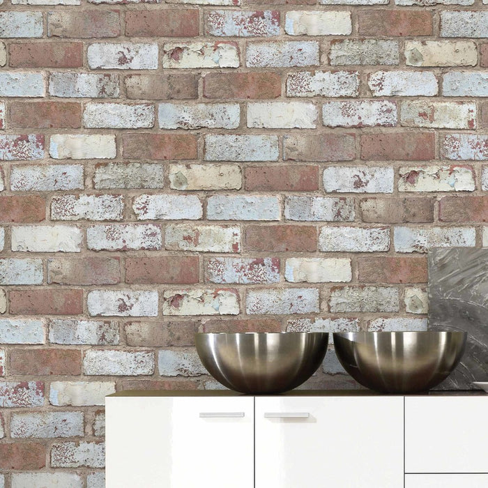 Pershore Brick Effect Wallpaper | Mixed