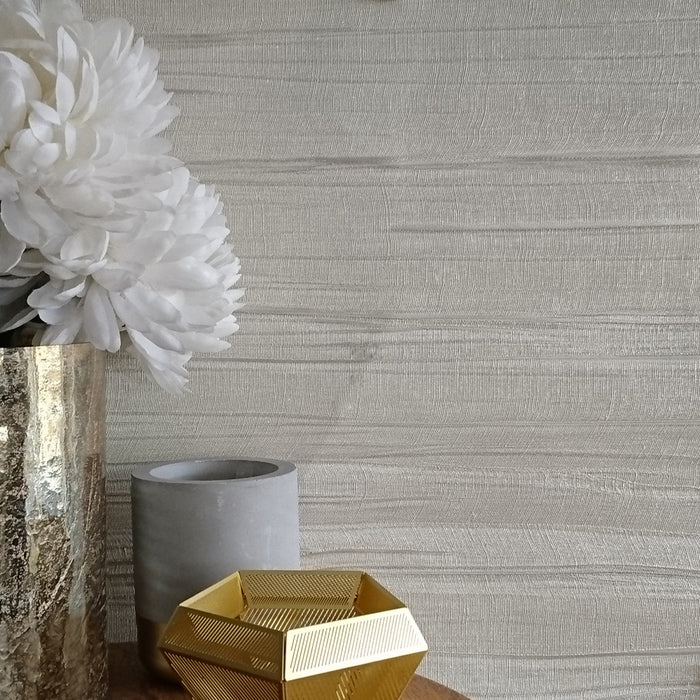 Luxe Satin Italian Heavy Weight Wallpaper| Taupe / Cream