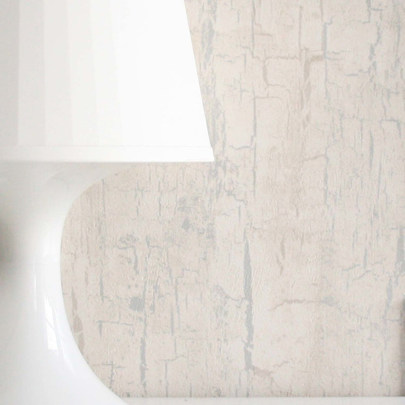 Tree Bark Effect Wallpaper | Pearl White Cream & Metallics - Your 4 Walls