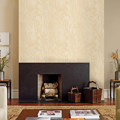 SALE Large Patterned Internal Plywood Realistic Wood Effect Wallpaper | Beige - Your 4 Walls