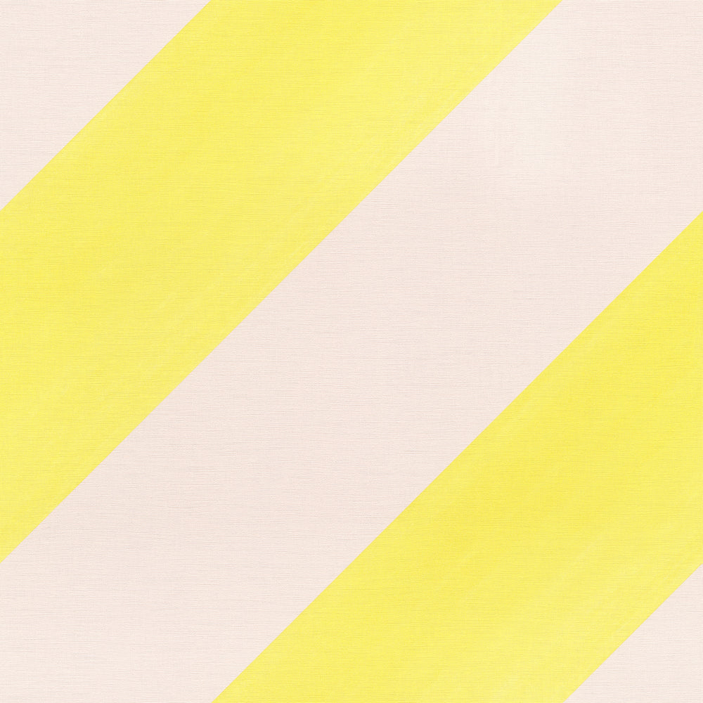Super Cool Diagonal Wide Stripe Wallpaper | Pink & Yellow - Your 4 Walls