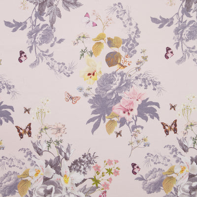 Botanical Oasis Designer Floral & Butterfly Wallpaper | Blush Pink & White - Your 4 Walls