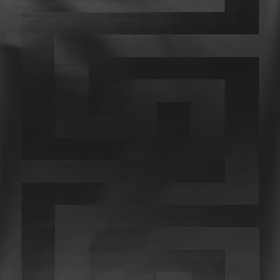 Versace Greek Key Motif Wallpaper  | Black - Your 4 Walls