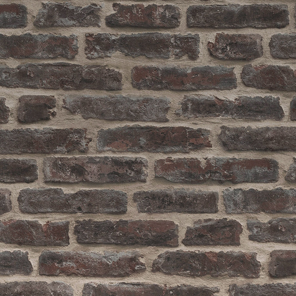 Brickhouse Red Brown Brick Effect Wallpaper - Your 4 Walls