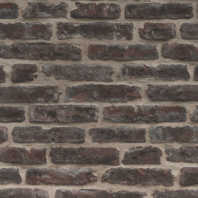 Brickhouse Brick Effect Wallpaper | Red Brown - Your 4 Walls