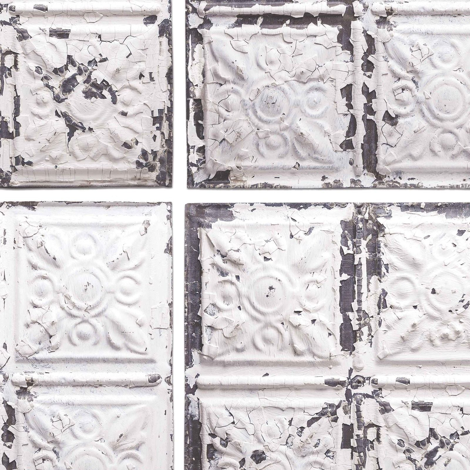Exclusive 39 broadway 39 tin tile effect wallpaper cream white grey your 4 walls - American tin tiles wallpaper ...