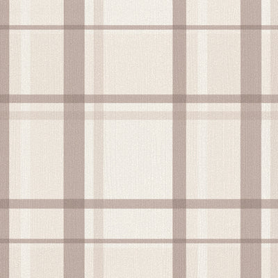 SALE Gingham / Checker Wallpaper | Brown & Beige - Your 4 Walls